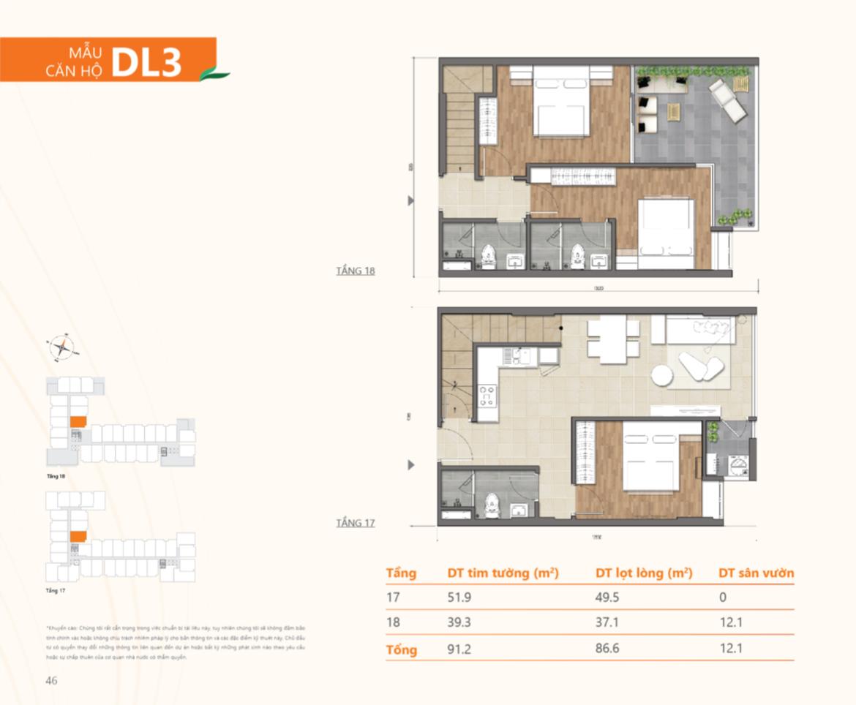 Thiết kế căn hộ Duplex dự án Ricca Quận 9