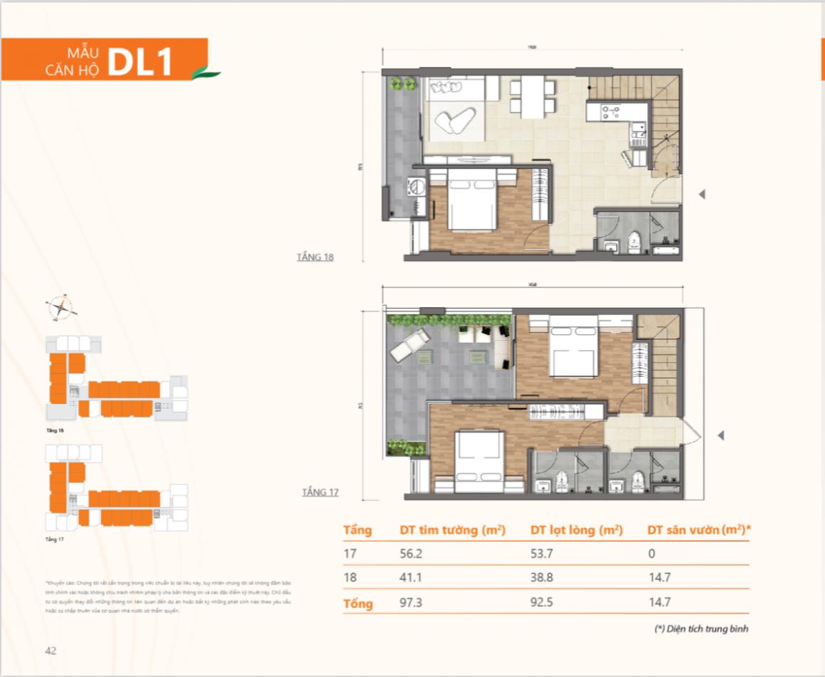 Thiết kế căn Duplex dự án Ricca Quận 9