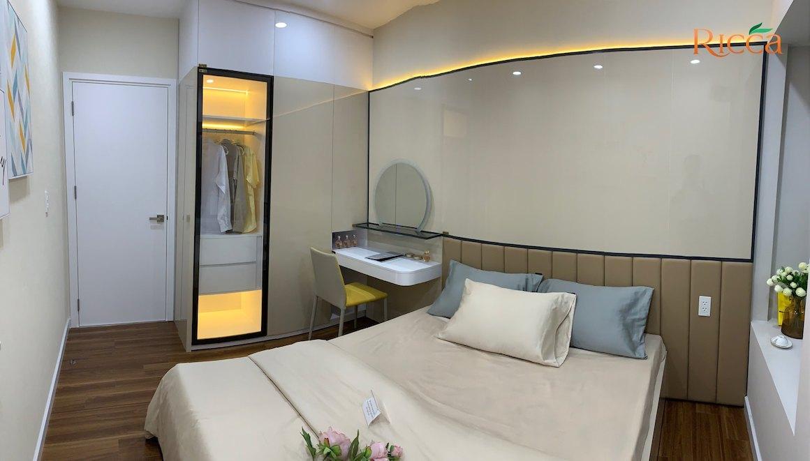Phòng ngủ nhà mẫu căn hộ Ricca Quận 9