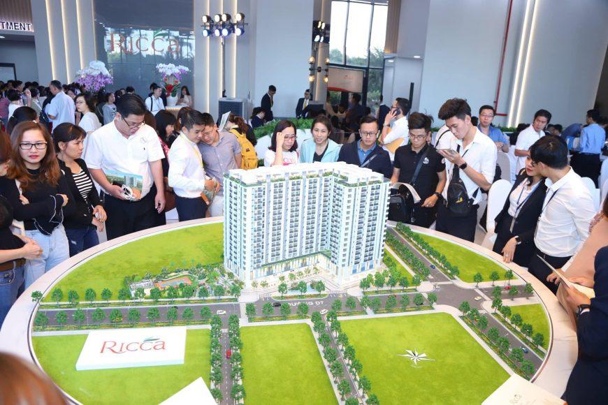 Khai trương nhà mẫu dự án căn hộ Ricca Quận 9 thu hút rất nhiều khách hàng tới tham quan