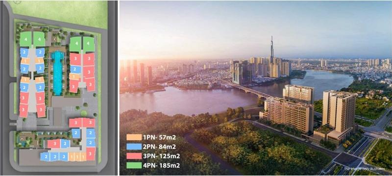 Chi tiết mặt bằng dự án căn hộ The River Thủ Thiêm Quận 2 mat bang can ho du an the river thu thiem 5