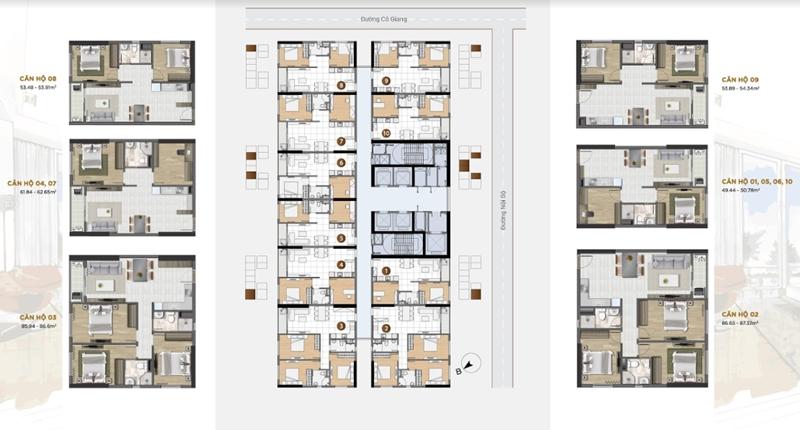 Chính Sách Và Giá Bán Căn Hộ Soho Residence Novaland Quận 1 mat bang du an can ho soho residence co giang quan 1