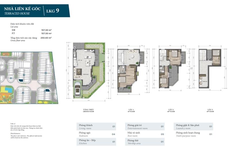 Mặt bằng thiết kế chi tiết nhà phố The Garden của Verosa Park Khang Điền Quận 9 mat bang thiet ke chi tiet nha pho the garden cua verosa park khang dien quan 9 10