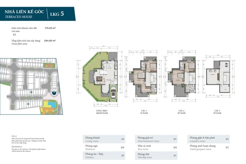 Mặt bằng thiết kế chi tiết nhà phố The Garden của Verosa Park Khang Điền Quận 9 mat bang thiet ke chi tiet nha pho the garden cua verosa park khang dien quan 9 8
