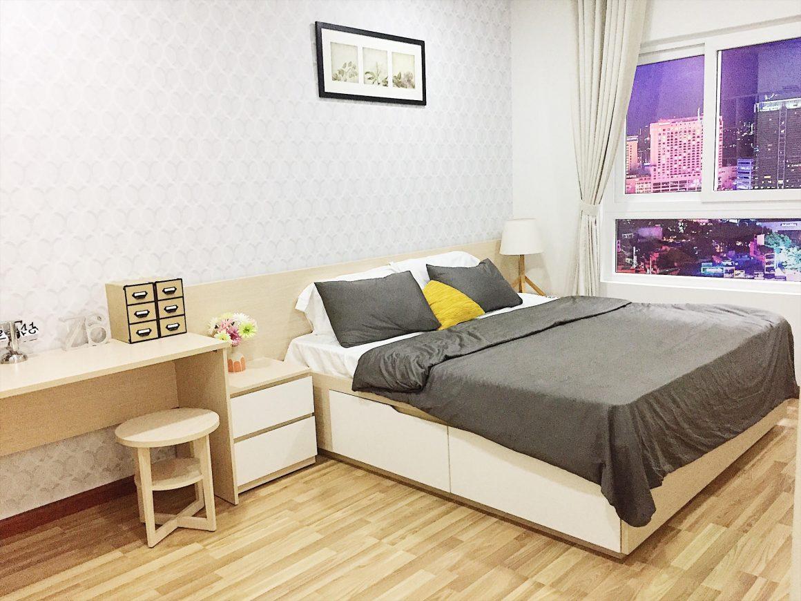 Mẫu phòng ngủ dự án Asahi Tower Quận 8