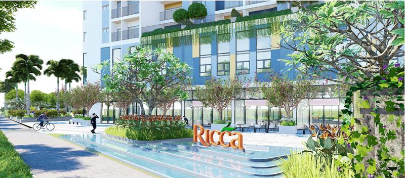 Dự án Ricca quận 9 bổ sung nguồn cung căn hộ đầu năm 2020 phoi canh ben ngoai du an can ho ricca quan 9