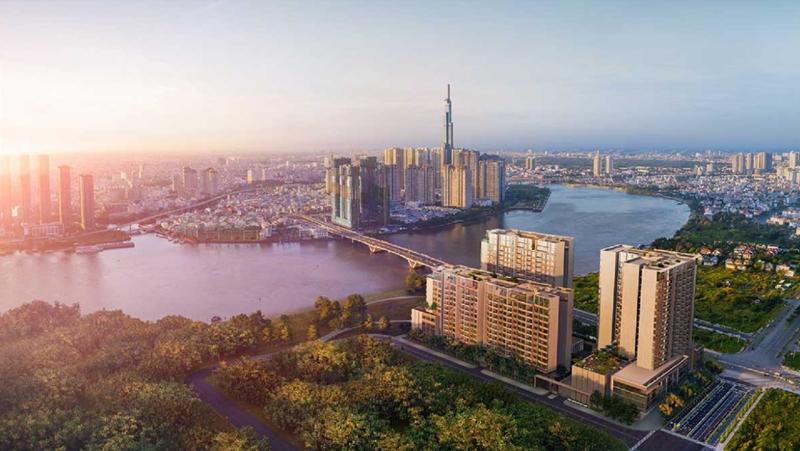 Vị trí địa chỉ dự án căn hộ The River Thủ Thiêm quận 2 phoi canh can ho du an the river thu thiem 2