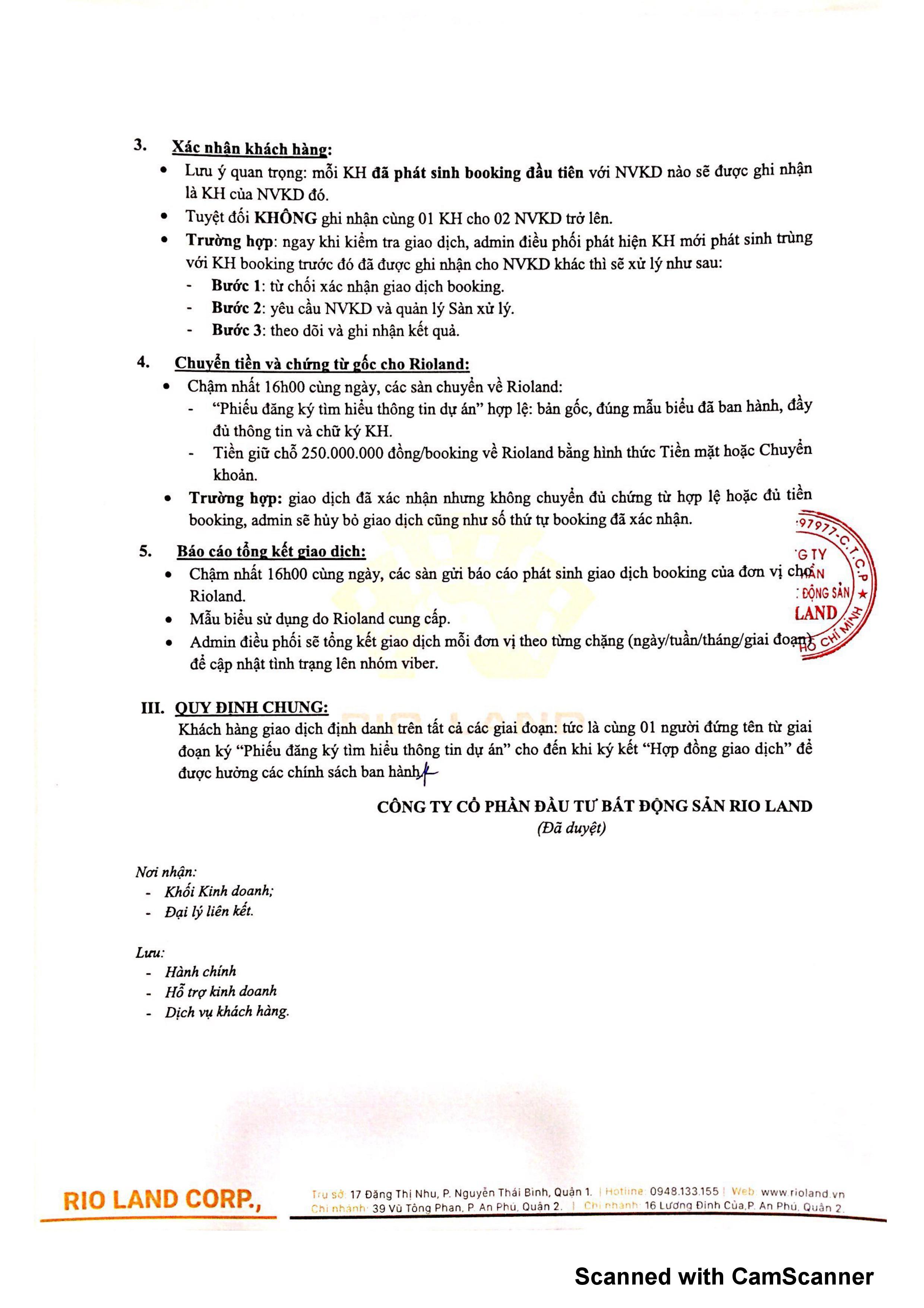 Quy trình thực hiện giao dịch booking dự án The Maris Vũng Tàu quy trinh dat cho booking du an the maris vung tau 0002