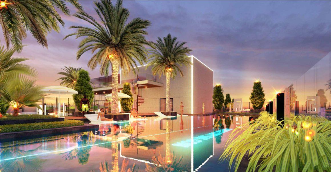 Sky pool tại dự án căn hộ chung cư Sunshine Horizon Quận 4