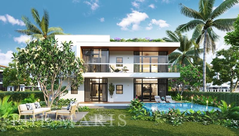 The Maris - Quần thể nghỉ dưỡng đình đám giữa trung tâm du lịch Vũng Tàu the maris vung tau facade villa 3 mat sau