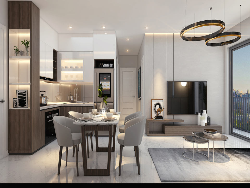 Thiết kế mẫu phòng bếp dự án Safira Khang Điền