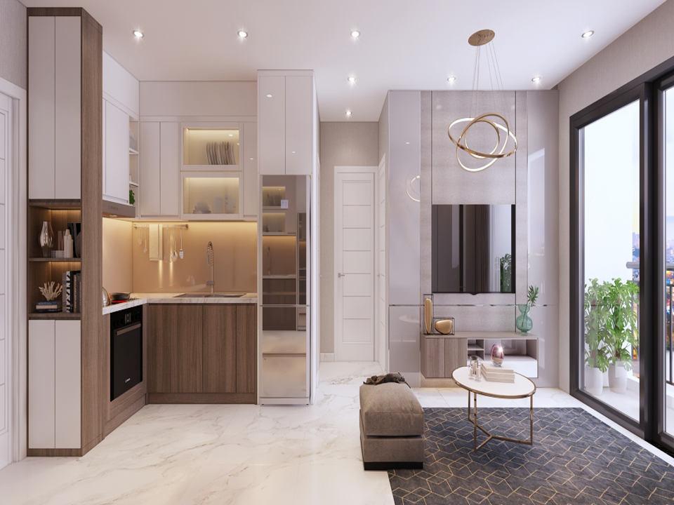 Thiết kế mẫu phòng khách dự án Safira Khang Điền Quận 9 2