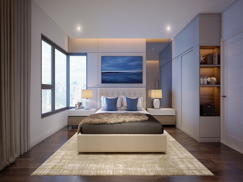 Thiết kế phòng ngủ dự án Safira Khang Điền Quận 9