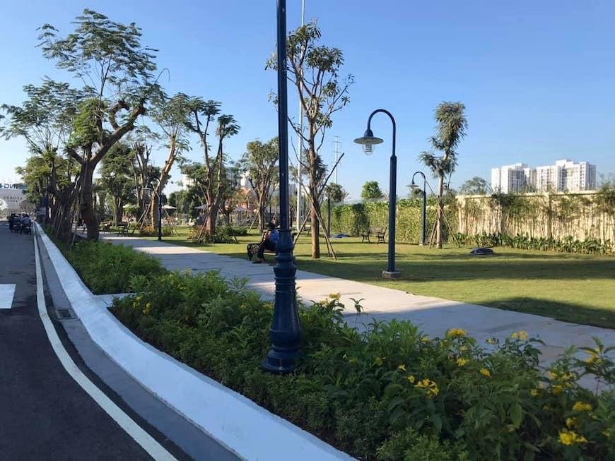 Tiến độ xây dựng dự án nhà phố Verosa Park Khang Điền Quận 9