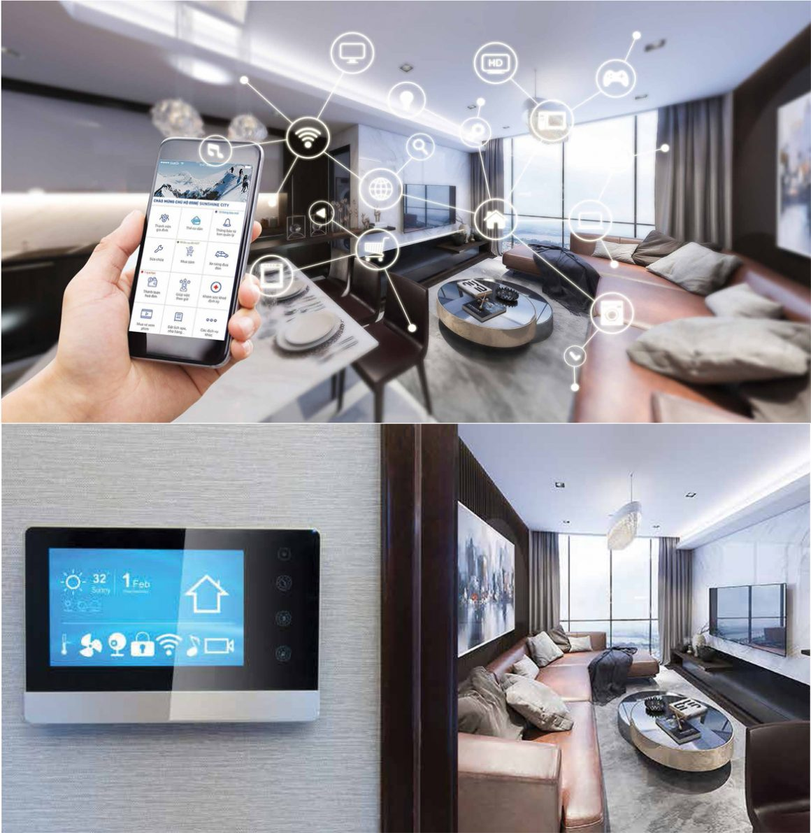 Công nghệ Smart Homes dự án Sunshine Horizon Quận 4
