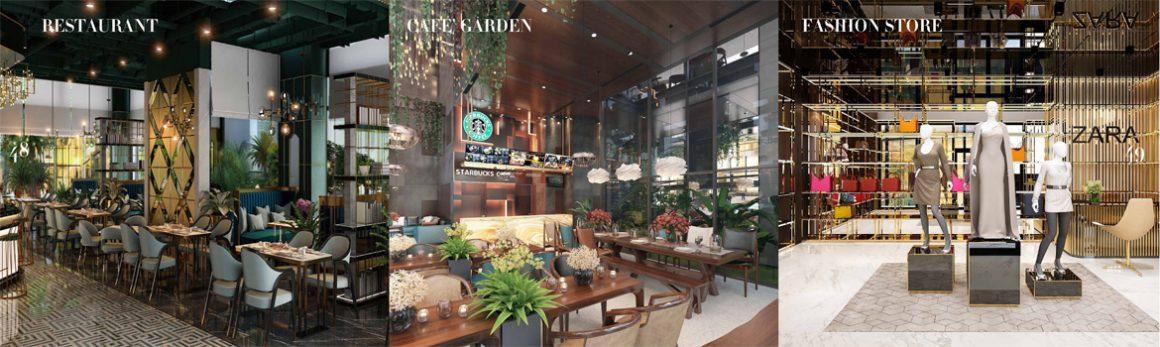 Tiện ích Nhà Hàng Cafe Mua sắm tại dự án Sunshine Horizon