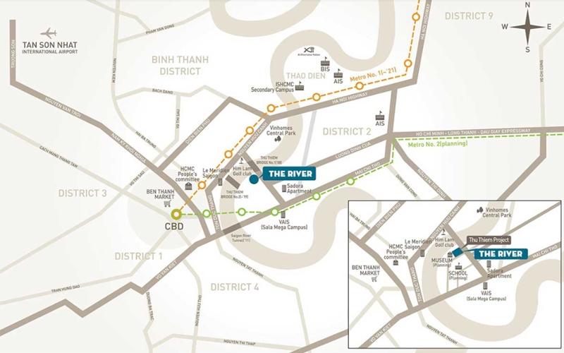 Vị trí địa chỉ dự án căn hộ The River Thủ Thiêm quận 2 vi tri can ho du an the river thu thiem