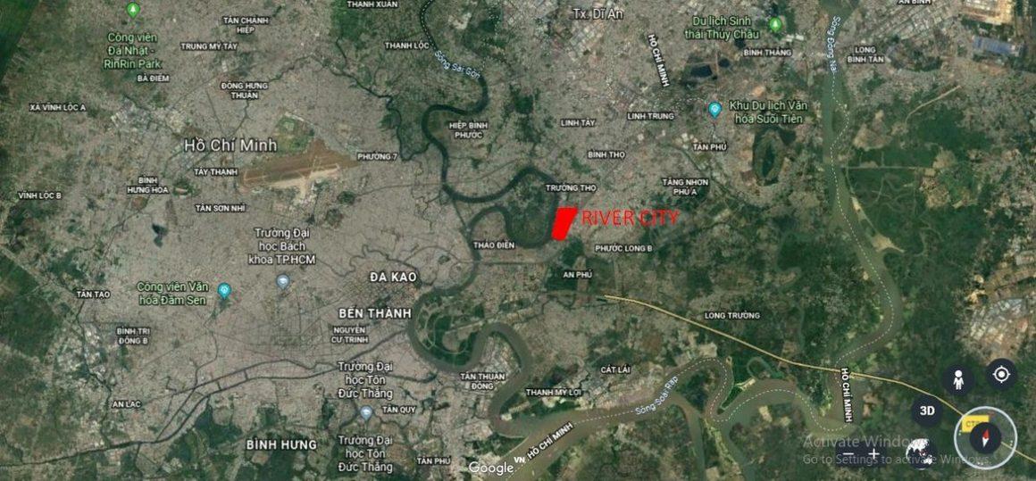 Vị trí địa chỉ dự án căn hộ chung cư River City Thủ Đức