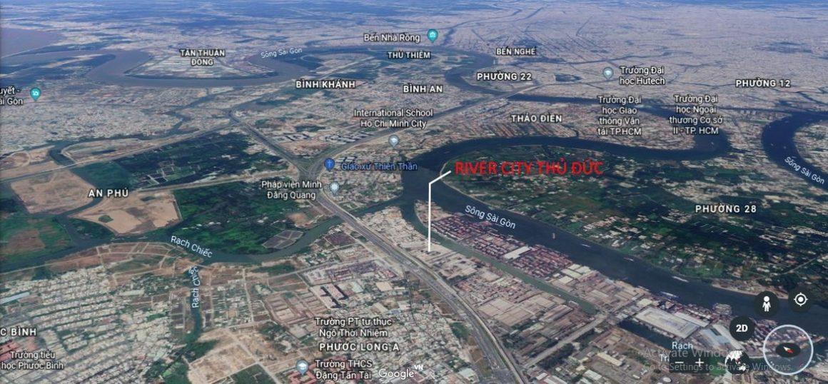 Vị trí dự án căn hộ River City Thủ Đức