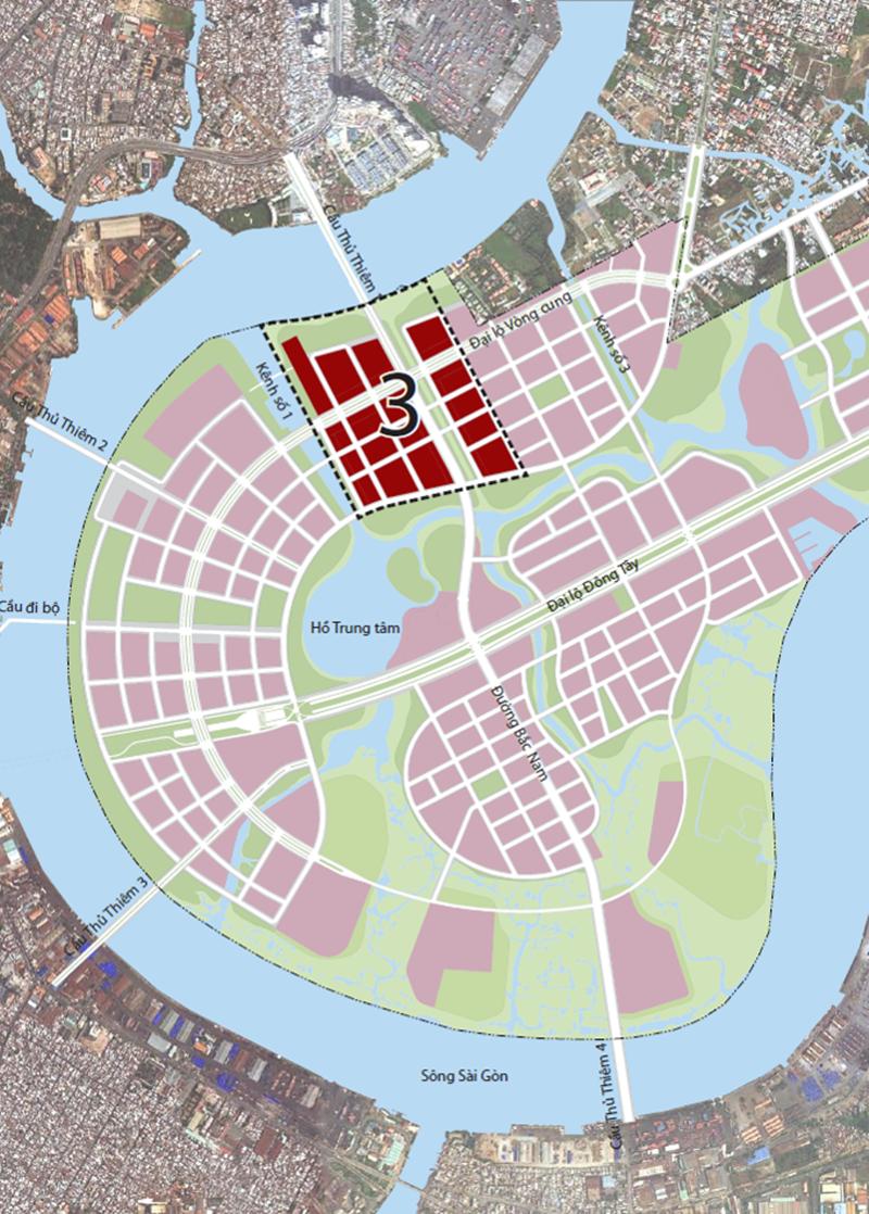 Vị trí địa chỉ dự án căn hộ The River Thủ Thiêm quận 2 vi tri du can can hothe river thu thiem