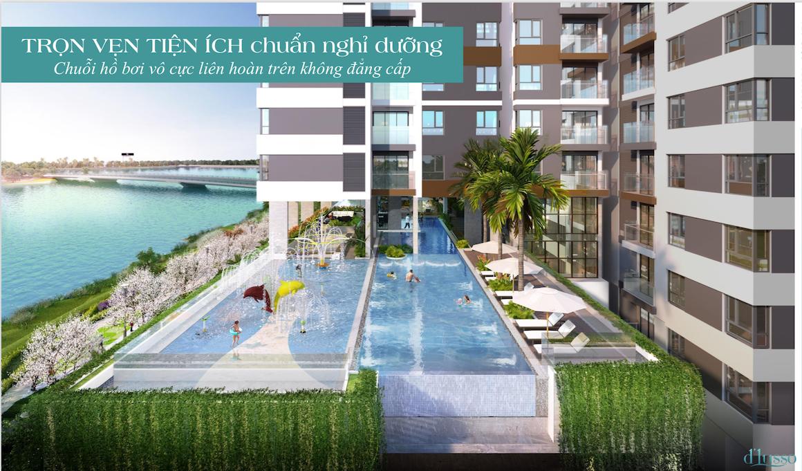 Tiện ích hồ bơi dự án chung cư căn hộ D'lusso Diamond Quận 2
