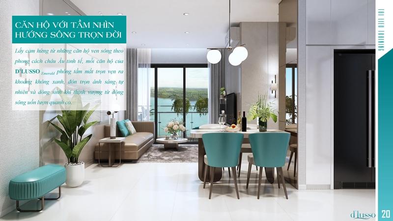 Căn hộ D'Lusso quận 2 có thiết kế nội thất rất sang trọng và đẳng cấp