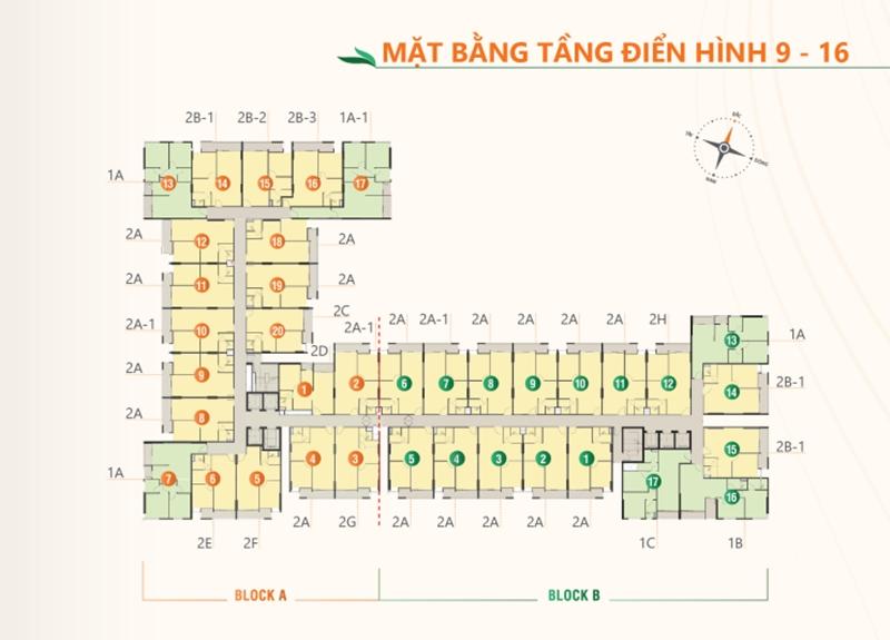 Mặt bằng tầng điển hình dự án căn hộ Ricca quận 9 du an can ho ricca quan 9 mat bang tang dien hinh 3
