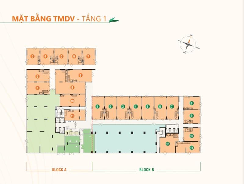 Mặt bằng tầng điển hình dự án căn hộ Ricca quận 9 du an can ho ricca quan 9 mat bang tang dien hinh