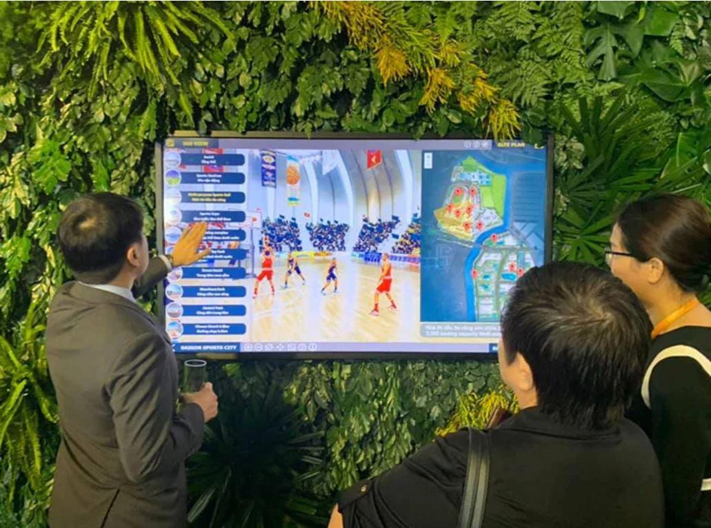 Ứng dụng tham quan dự án Saigon Sports City thu hút nhiều sự quan tâm của các khách mời