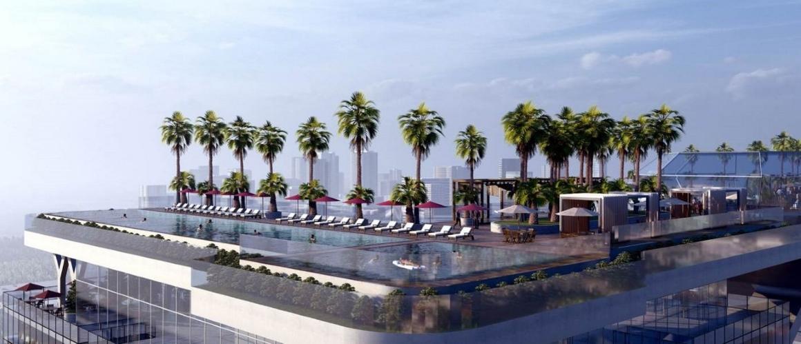 Hồ bơi tràn viền sân thượng dự án Sunshine Tower quận 1