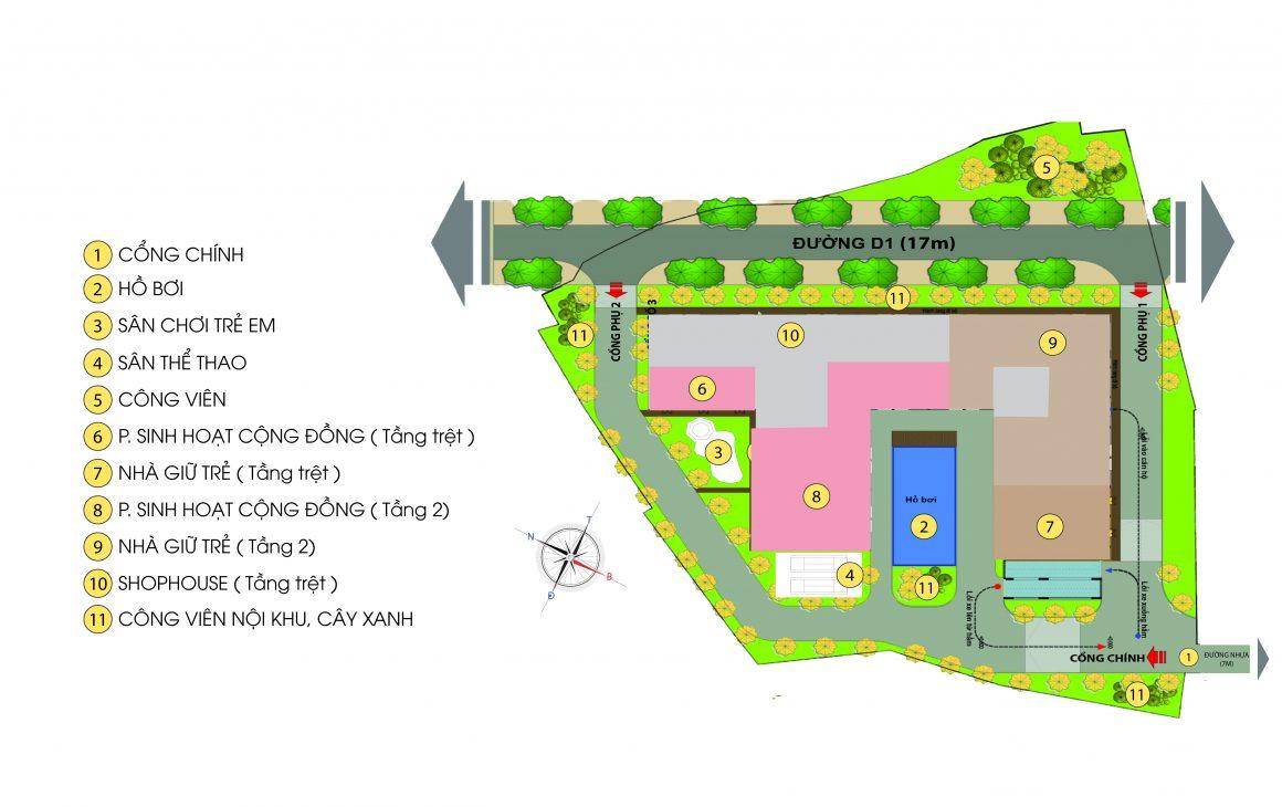 Tổng thể dự án căn hộ Bcons Green View Dĩ An Bình Dương