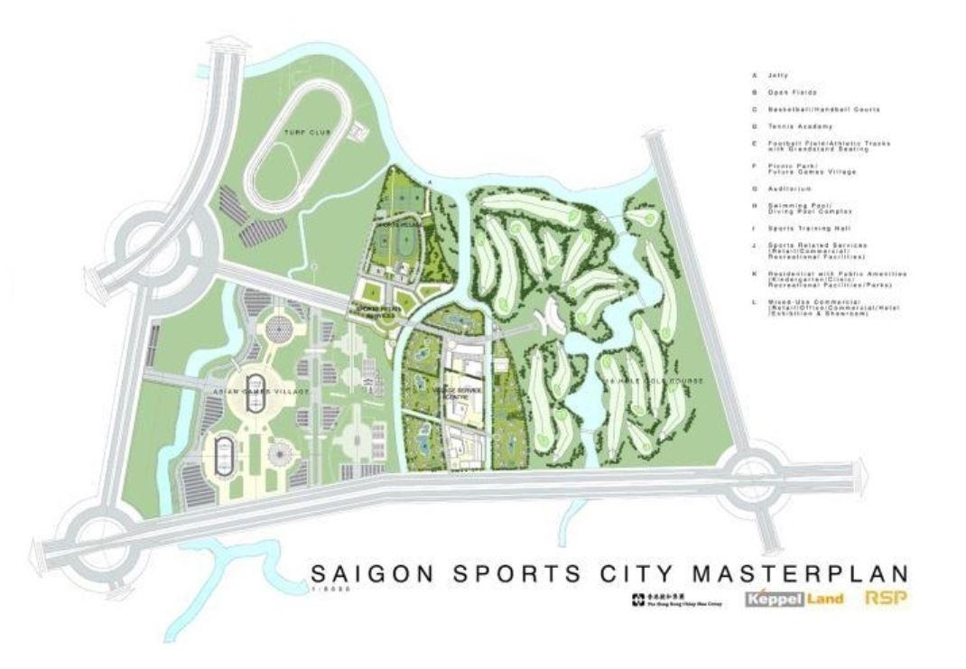 Phối cảnh mặt bằng dự án căn hộ Saigon Sport City quận 2