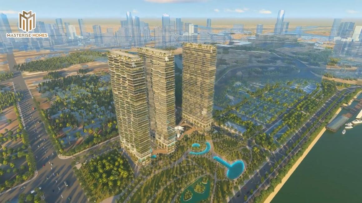 Phối cảnh tổng thể toàn dự án căn hộ chung cư Masterise Ba Son quận 1 Đường Nguyễn Hữu Cảnh Chủ đầu tư Masterise Group