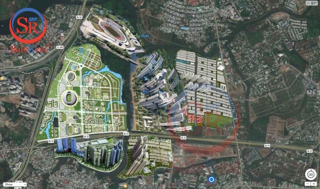 Phối cảnh mặt bằng và các tiện ích xung quanh dự án Saigon Sports City