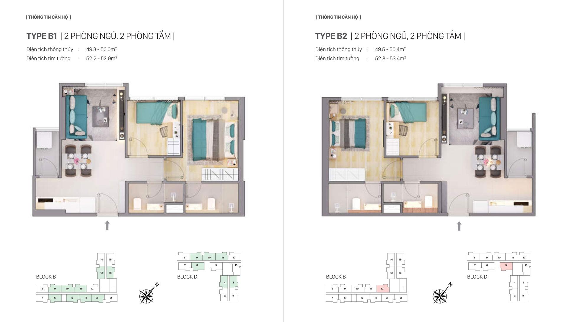Thiết kế căn hộ B1 B2 Citi Grand Quận 2