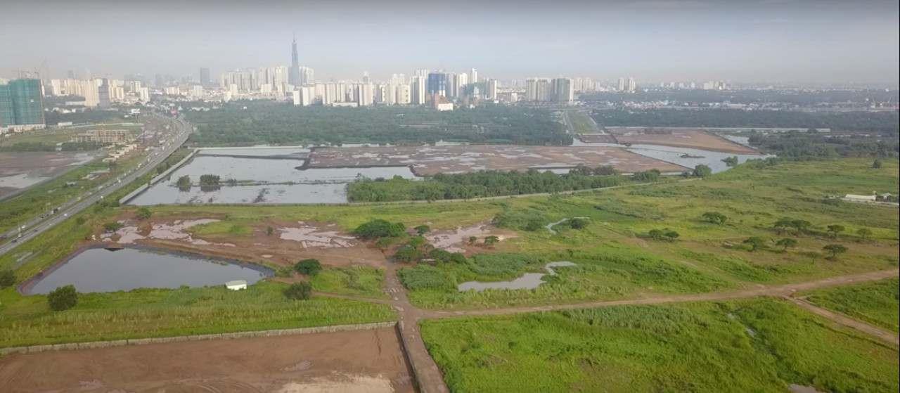 Tiến độ dự án Saigon Sports City đã san lấp xong mặt bằng tháng và đã có saban ngay vị trí dự án.