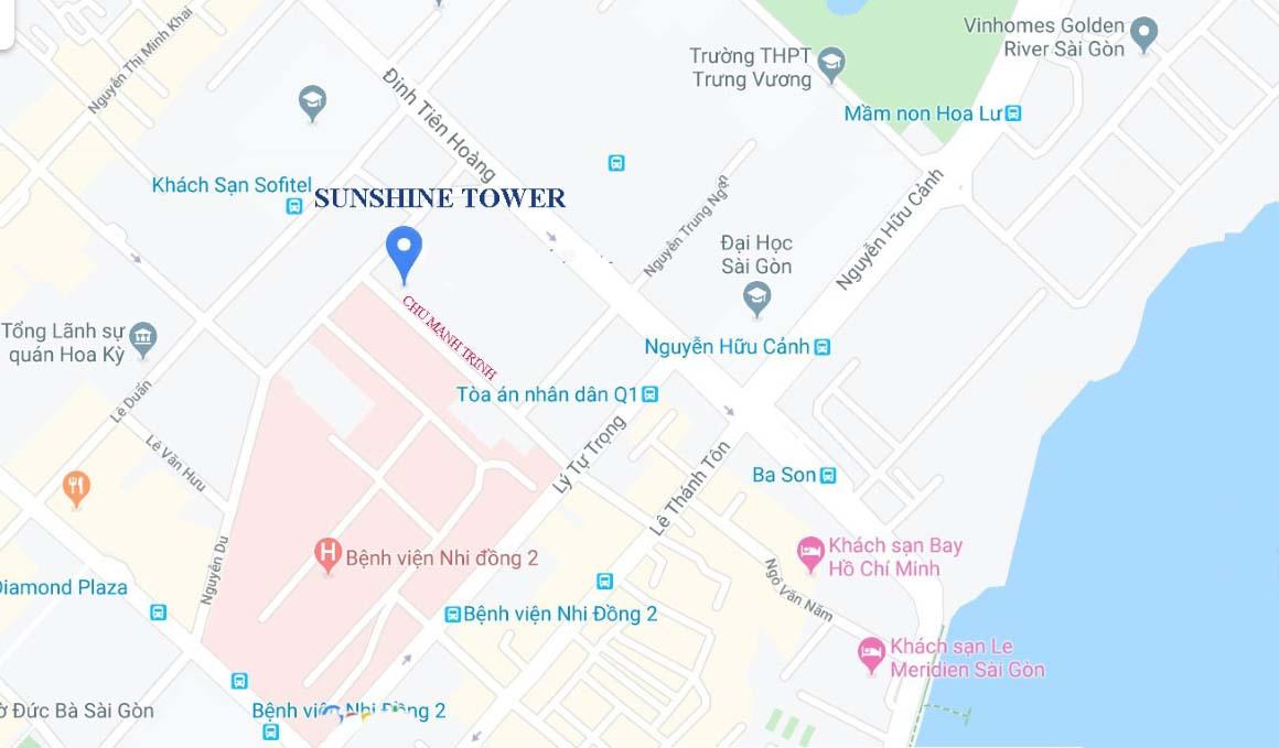 Vị trí dự án căn hộ Sunshine Tower quận 1