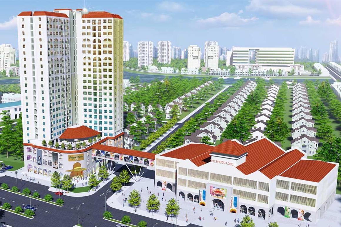 Hình ảnh tổng quan dự án Viva Plaza nhìn từ trên cao