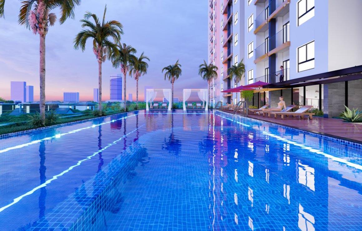 Hồ bơi căn hộ Minh Quốc Plaza