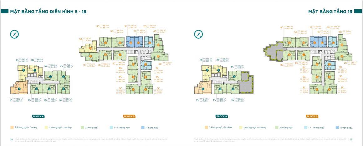 Mặt bằng tầng điển hình chi tiết dự án căn hộ D'lusso Quận 2. Xem thêm tại: https://keenland.com.vn/du-an-dlusso-emerald-quan-2.html