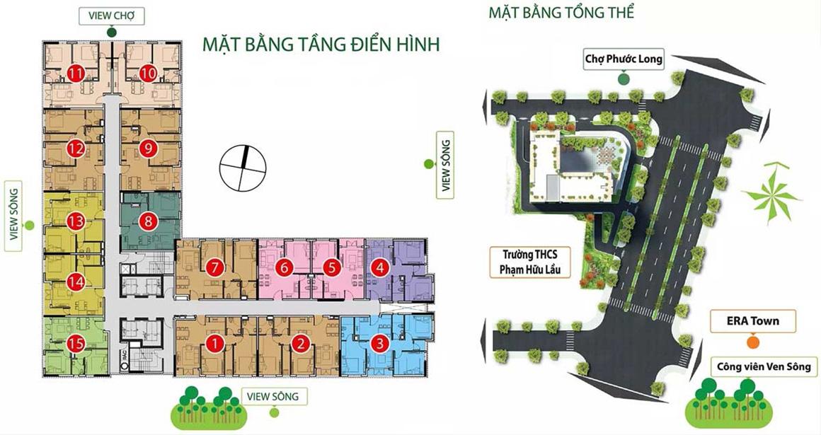 Mặt bằng tầng điển hình dự án Viva Plaza