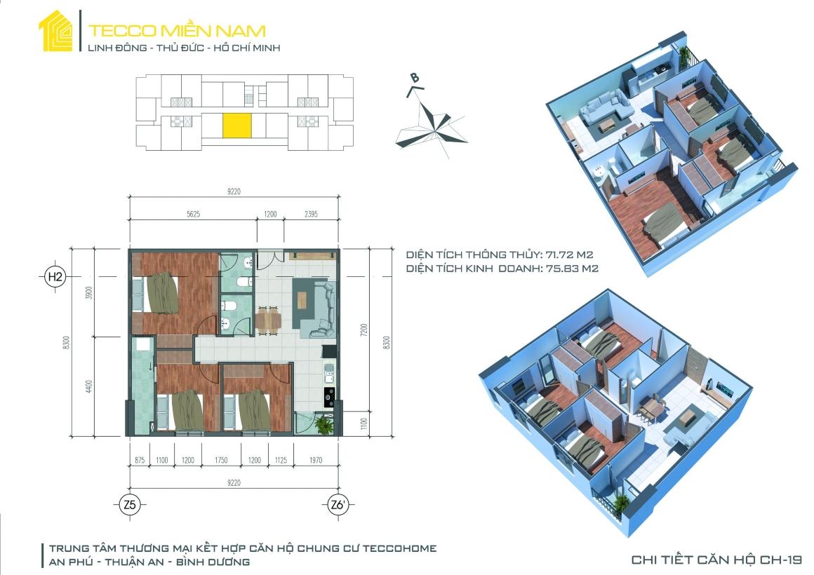 MB thiết kế căn hộ 3PN