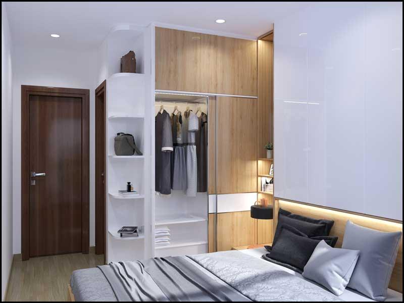 Phòng ngủ master căn hộ dự án Bcons Green View Bình Dương