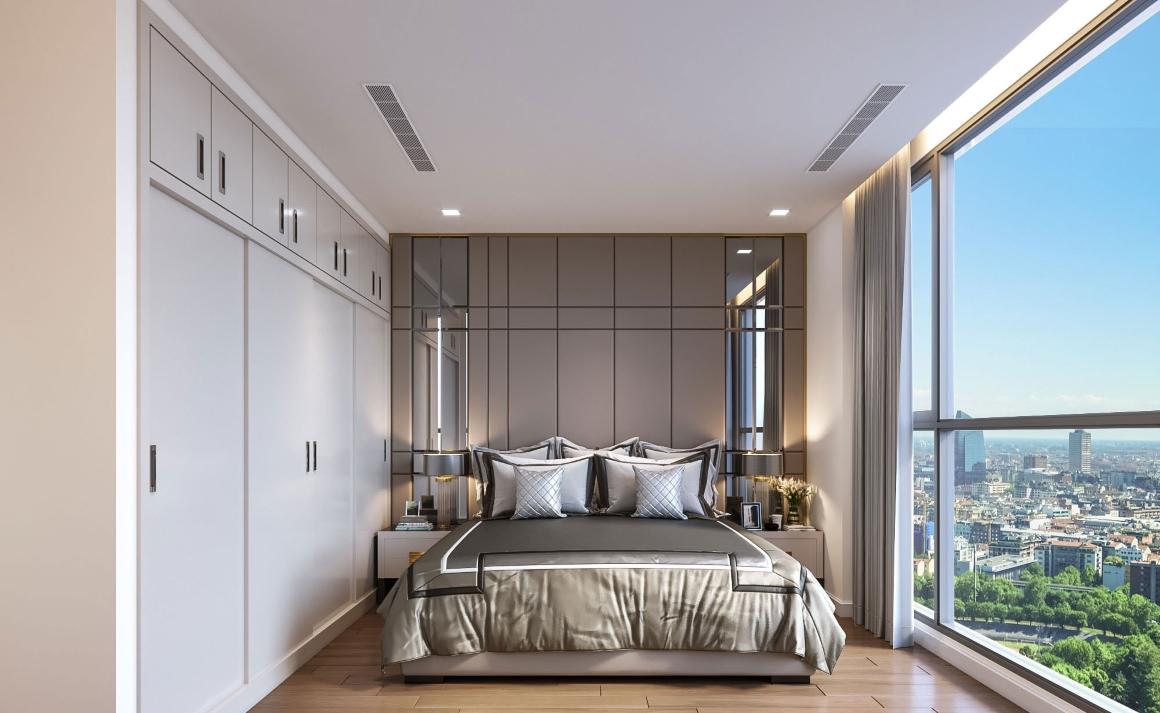 Phòng ngủ nhỏ căn hộ Opal Avenue Bình Dương
