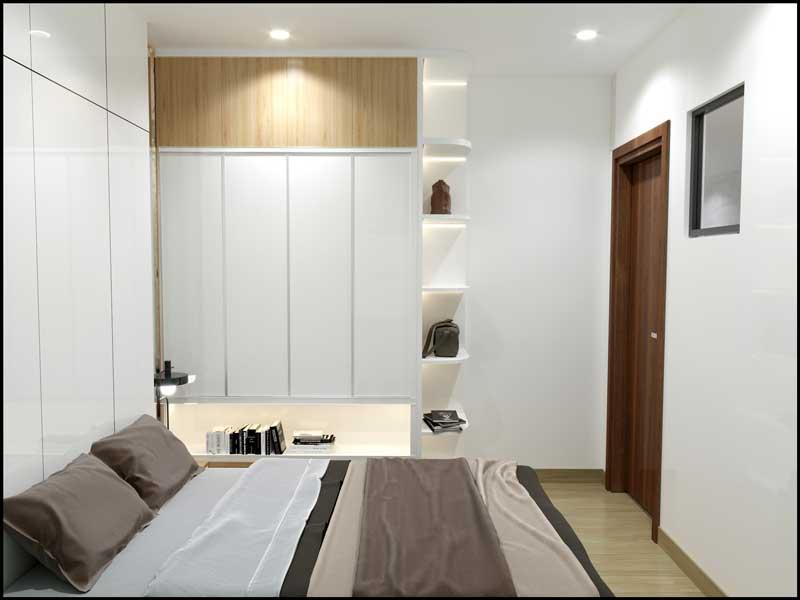 Phòng ngủ nhỏ căn hộ mẫu Bcons Green View tại Dĩ An, Bình Dương