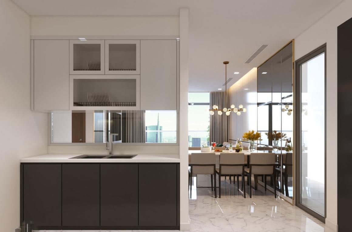 Phòng bếp căn hộ Opal Avenue Bình Dương