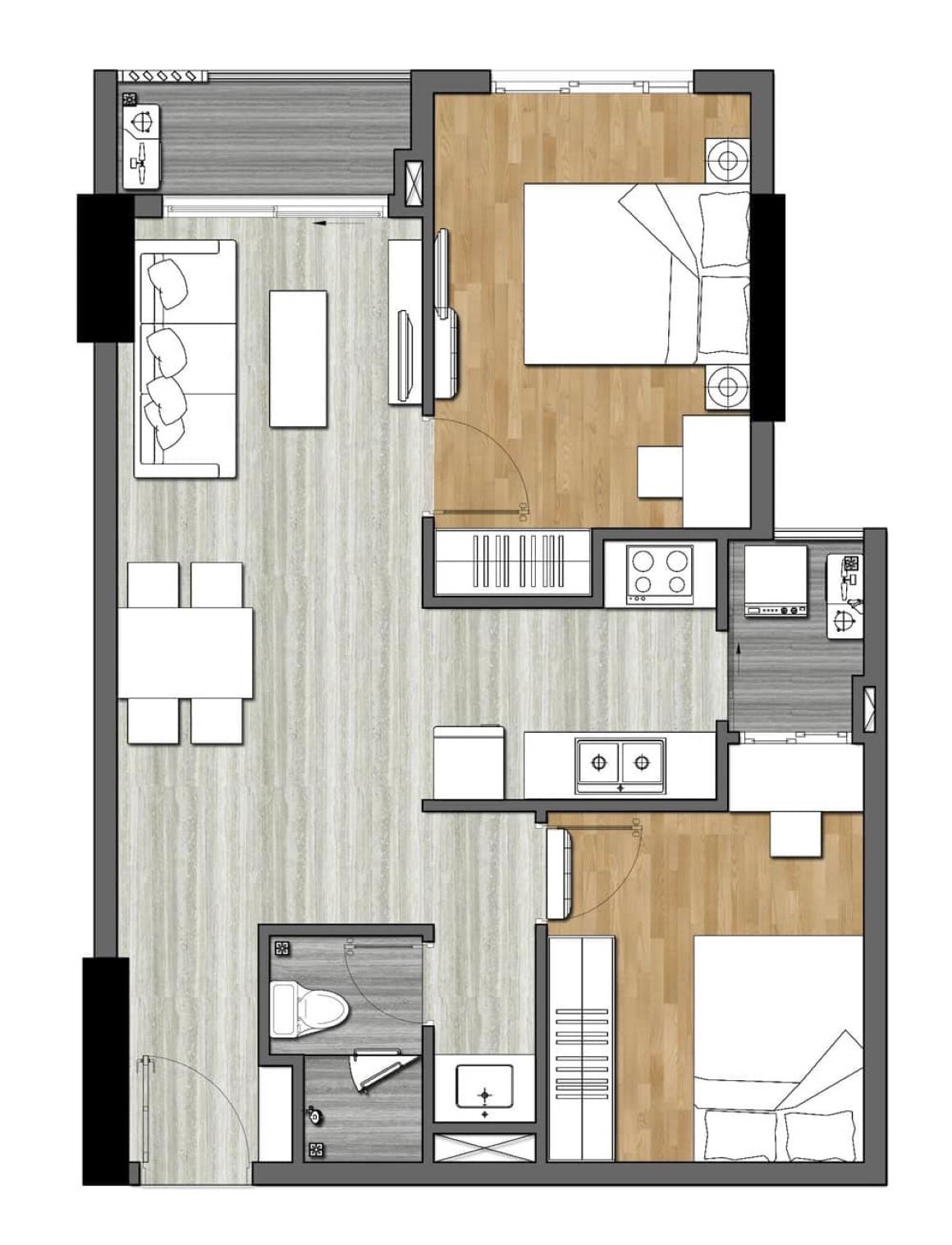 Thiết kế căn hộ New Galaxy - 2PN