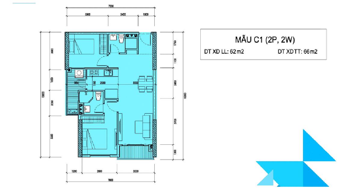 Thiết kế căn hộ mẫu Minh Quốc Plaza 2