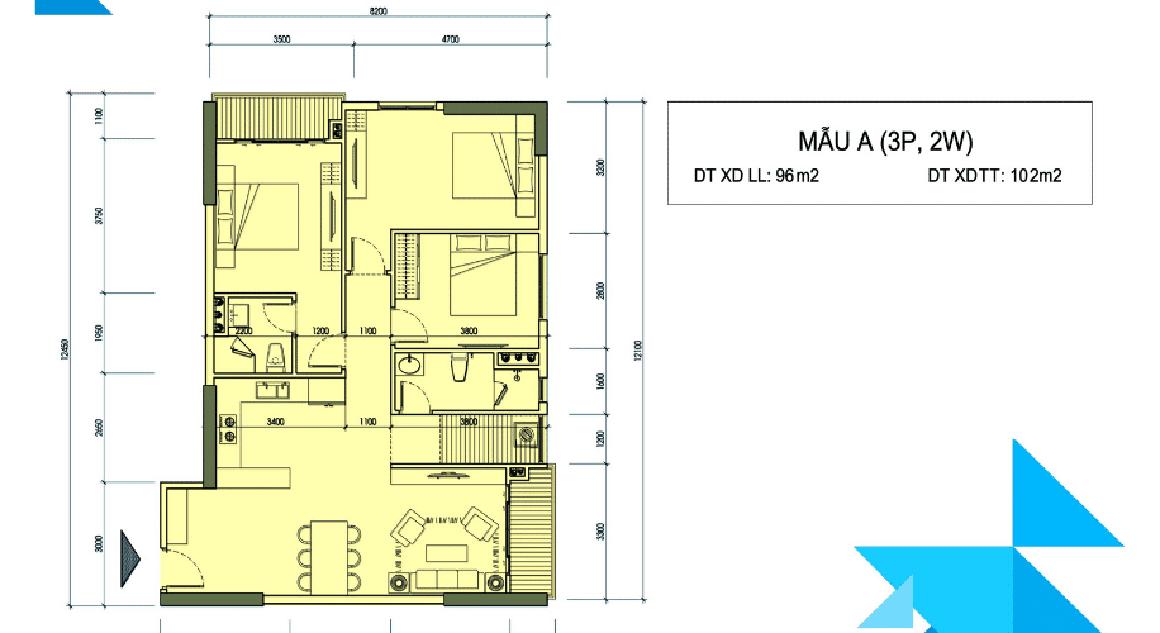 Thiết kế căn hộ mẫu Minh Quốc Plaza