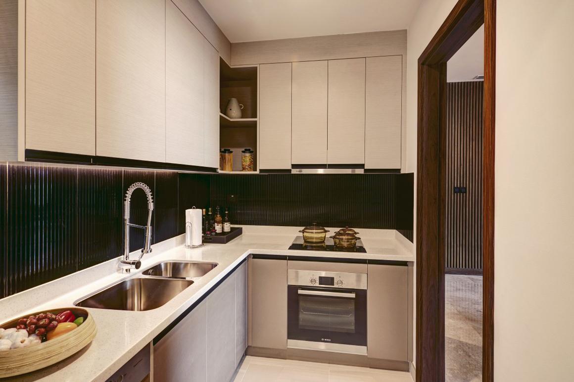 Thiết kế phòng bếp căn hộ dự án D'EDGE THẢO ĐIỀN